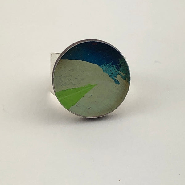 Miniature Original Painting Ring 'Expression 3'