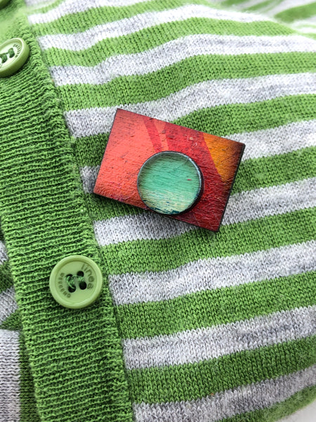 Miniature Original Painting Brooch 'You 4'