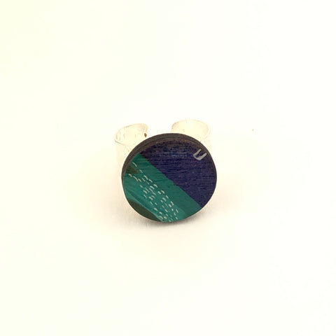 Miniature Original Painting Ring 'Expression 6'