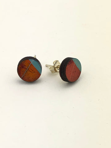 Miniature Original Painting Earrings. 'Makers 5'