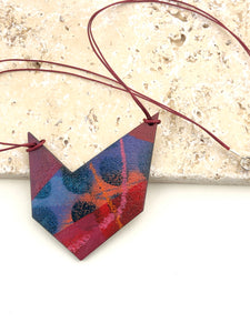 Miniature Original Painting Necklace 'free speech 2'
