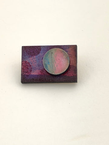Miniature Original Painting Brooch 'You 3'