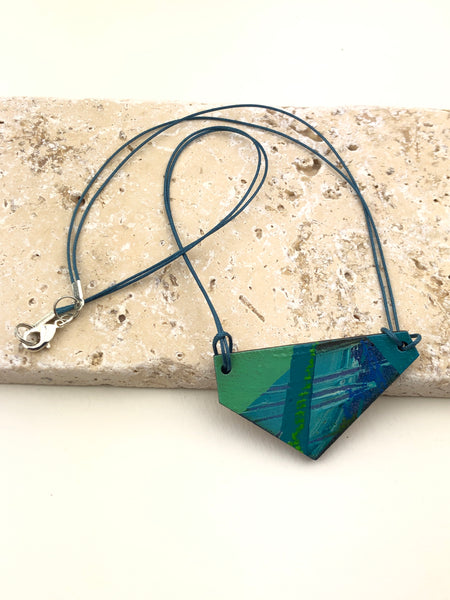 Miniature Original Painting Necklace 'free speech 1'