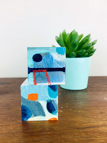 Creative Inspiration For Your Work Space. Mini Desktop Original Art Subscription (each piece 2x2in )