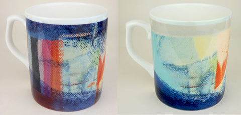 Set of Two Large Fine Art Coffee Mugs - ''Waveney Valley''