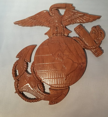 Military Plaques- Marines - Hudson Woodworking