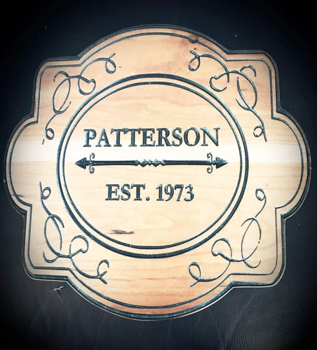 Custom Family Plaque - Hudson Woodworking