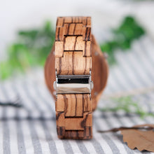 Load image into Gallery viewer, Zebrawood Quartz Wristwatch - Hudson Woodworking