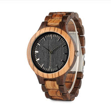 Load image into Gallery viewer, Two-toned Natural Wood Wristwatch - Hudson Woodworking