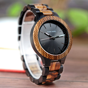 Two-toned Natural Wood Wristwatch - Hudson Woodworking