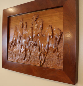 Eight Majestic Stallions - Hudson Woodworking