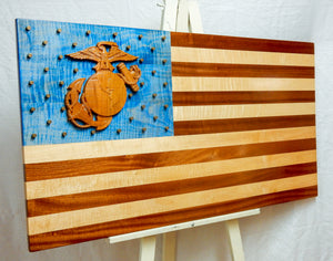Marine Corps 3D American Flag - Hudson Woodworking