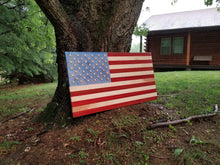 Load image into Gallery viewer, American Spirit Flag with 3D stars - Hudson Woodworking