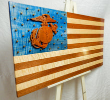 Load image into Gallery viewer, Marine Corps 3D American Flag - Hudson Woodworking