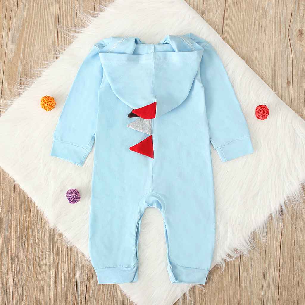 Baby Dinosaur Romper | Winter Fleece Jumpsuit | Hooded Dinosaur Bodysuit Boys and Girls | Cute Baby Clothes