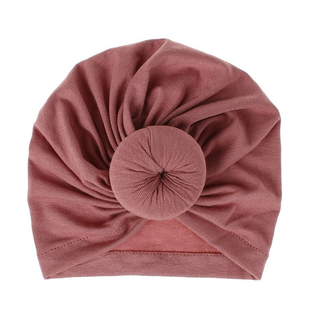 Mother Baby Hat Soft Cotton Turban Hat Baby Beanie Big Elastic Toddler Bonnet Infant Boy Girl Cap 18 Colors 1PC