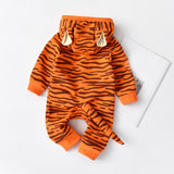 Newborn Infant Baby Girls/Boys Cartoon Tiger Hooded Romper Jumpsuit Fashion Baby