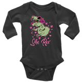 She Rex Baby Dino Romper Short or Long Sleeve One Piece