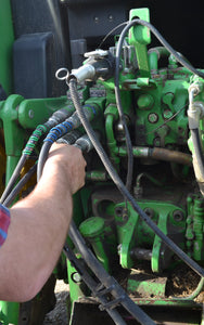Using Outback Wrap on hay baler's hydraulic hoses