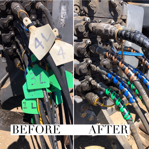 Outback wrap hydraulic hose markers versus zip ties image