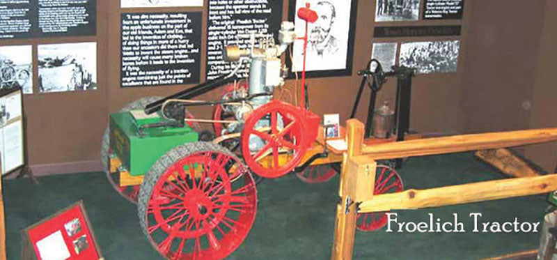 Photo of an 1892 Froelich Tractor
