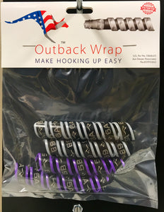 "Hydraulic hose markers - Outback Wrap Purple & Grey Small  2 x Pairs fits 3/8"" to 3/4"" hose For 5 & 6"
