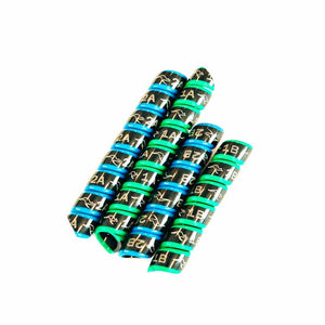 Outback Wrap hydraulic hose markers. 2 Pairs. Green & Blue