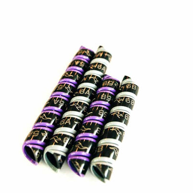 Hydraulic Hose Markers - Outback Wrap 2-Pair Purple & Grey