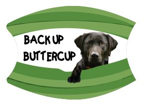Mask Back Up Buttercup Black Labrador Includes Shipping