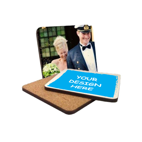 Hardboard Coaster w corkback (set of 4)