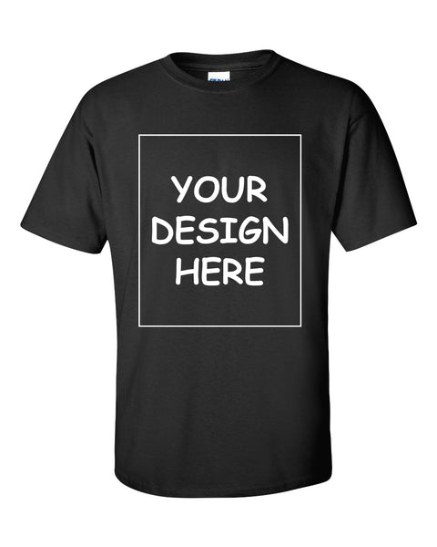 Custom Black Single Sided T-Shirt