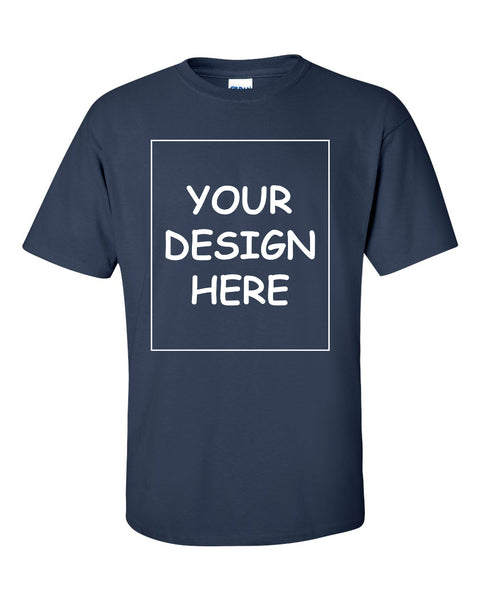 Custom Navy Single Sided T-Shirt