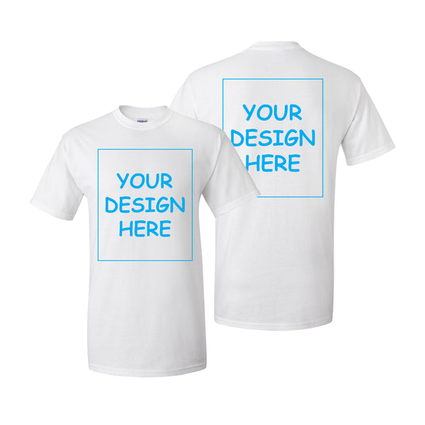 Custom T-Shirt Short Sleeve Single Two Side Print