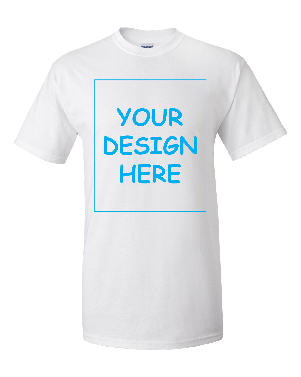Custom White Single Sided T-Shirt
