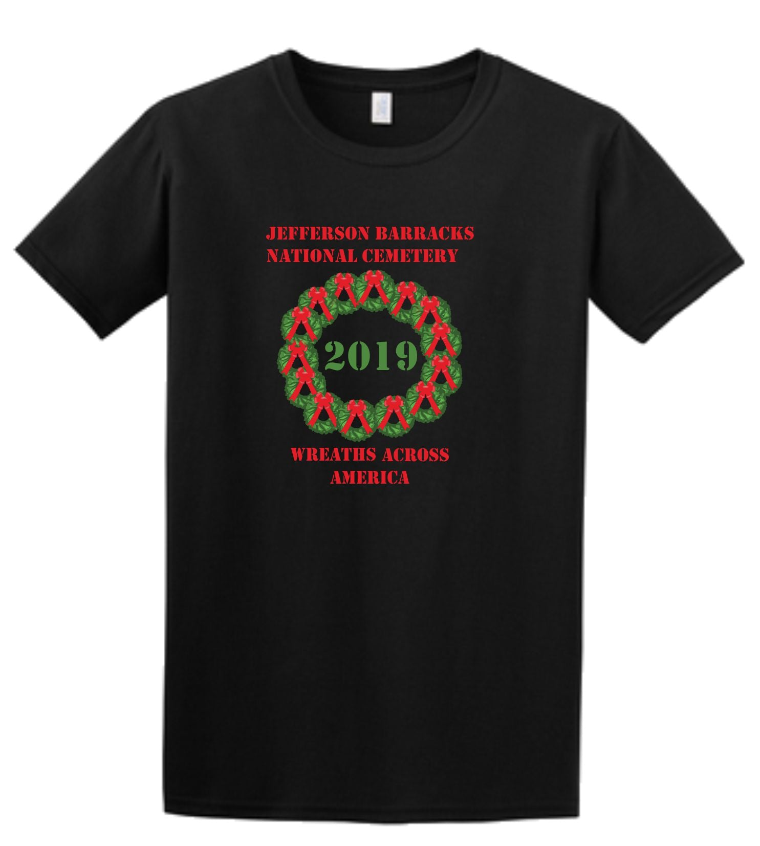 JEFFERSON BARRACKS WREATHS ACROSS AMERICA SHORT SLEEVE SHIRT