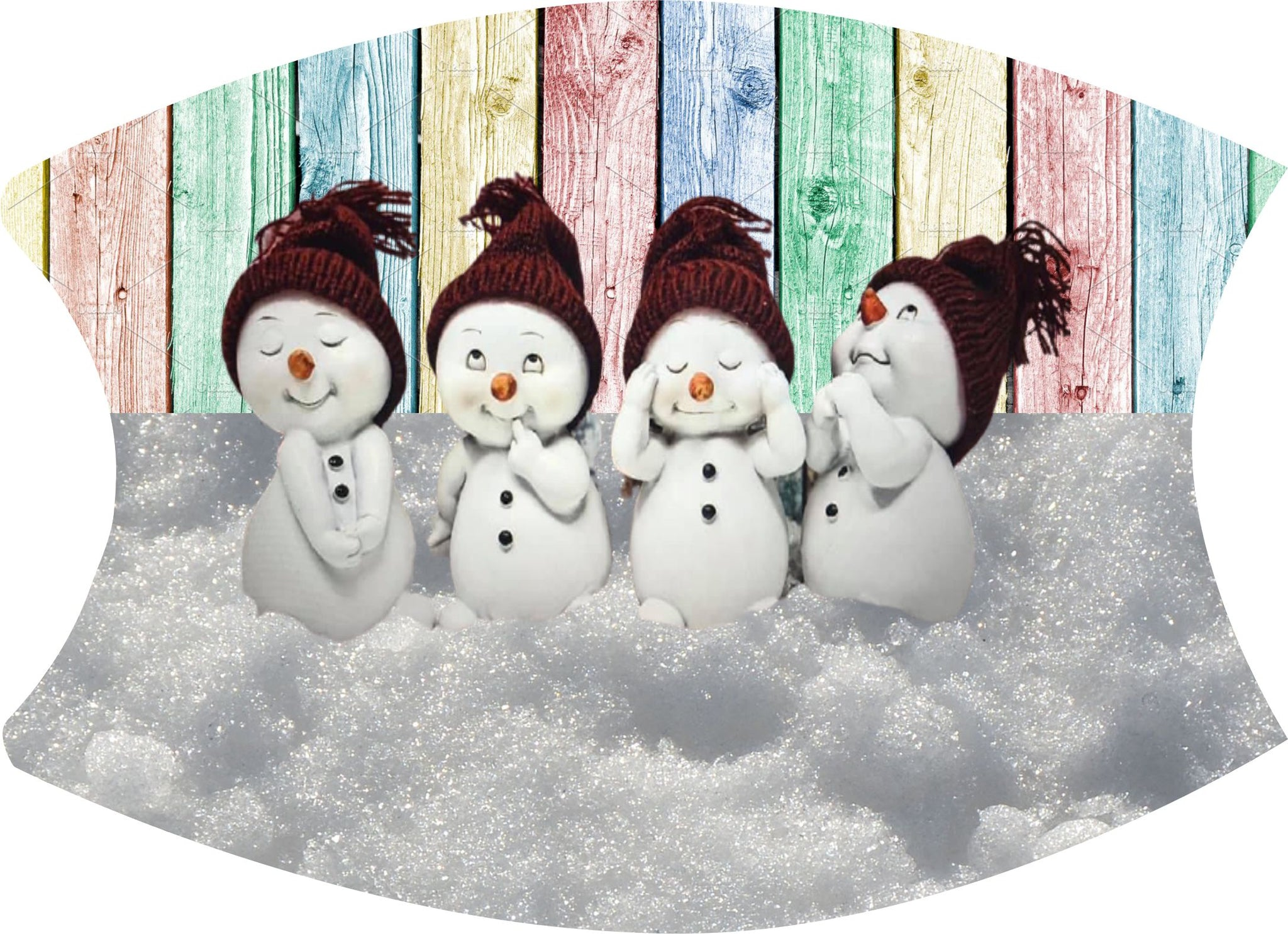 Mask Snowmen  Includes shipping