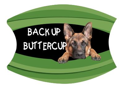 Mask Back Up Buttercup German Shepard