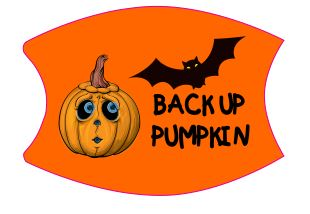 Mask Halloween Back Up Pumpkin Includes Shipping