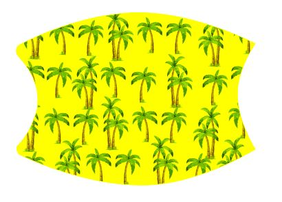 Mask Palm Trees includes shipping