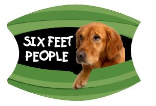 Mask Six Feet People Golden Retriever Includes Shipping