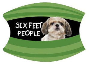 Mask Six Feet People Shih Tzu Includes Shipping