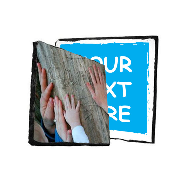 Photo Slate Rock Plaque