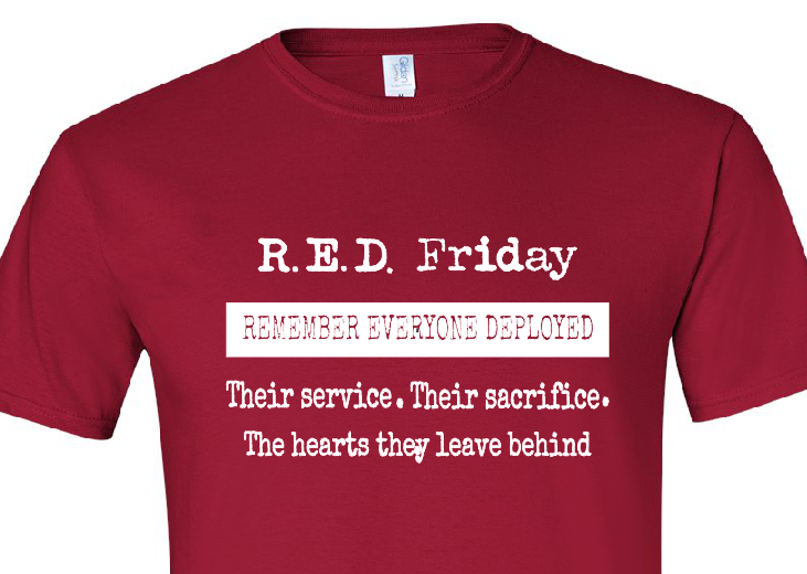 R.E.D. Friday Remember Everyone Deployed