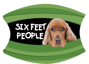 Mask Six Feet People Cocker Spaniel Includes Shipping