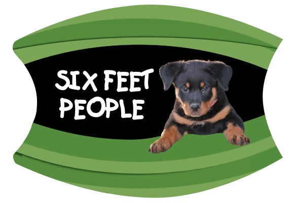 Mask Six Feet People Rottweiler Puppy Includes Shipping