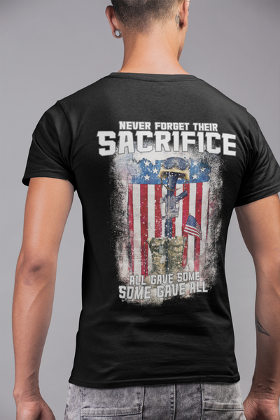Military Tee, Honor Their Sacrifice full back