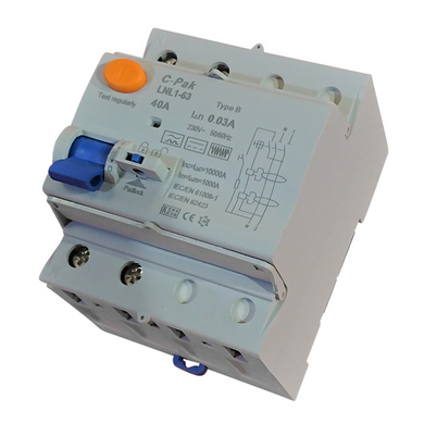 RCD - Type B, 2 Pole - 4 Module
