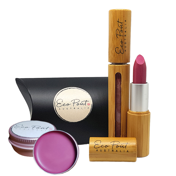 Cheeky Pout Pack - Lip Sheen (Gloss), Lipstick, Cream Blush