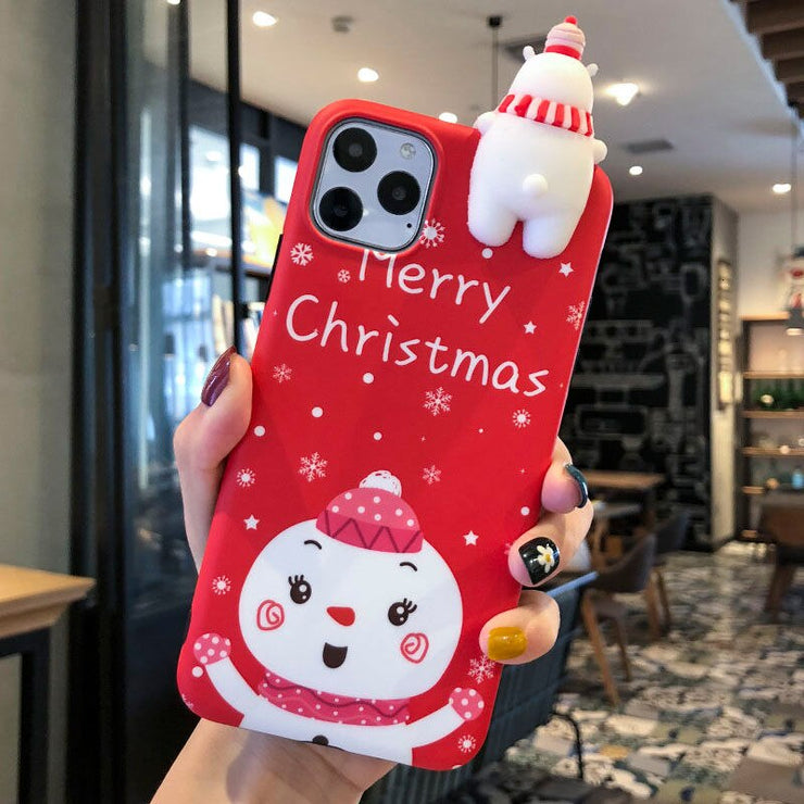 owlcase Merry Christmas 3D Deer Bear For iPhone 11/Pro/Max cases