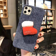 owlcase Soft Plush Christmas Cases for iphone 11/pro/max